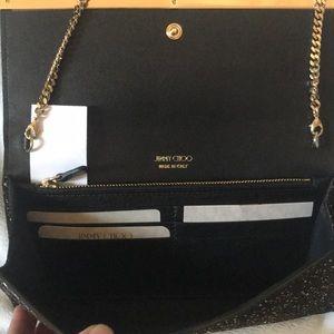 Jimmy Choo Bags - Jimmy Choo Handbag Crossbody Clutch NEW Black Gold
